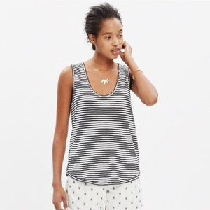Madewell Anthem Scoop Neck Tank Top in Stripe